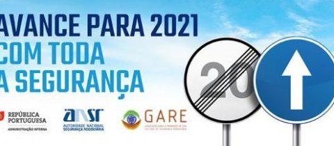 """A GARE participa na Campanha de Ano Novo da Autoridade Nacional de Segurança Rodoviária """"Avance para 2021 com toda a Segurança"""""""