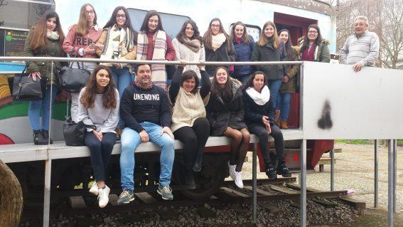 <center>Visita de uma Turma da Escola Secundária Severim Faria</center>