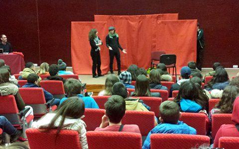 <center>Teatro-Debate (IN) Dependências para as escolas secundárias do Alentejo</center>
