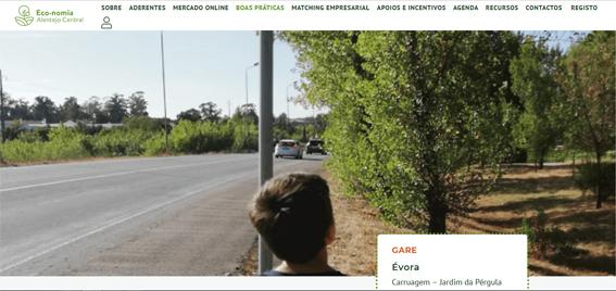 Fixe City, pensar a mobilidade em Évora divulgado nas boas práticas do site Eco-nomia Alentejo Central