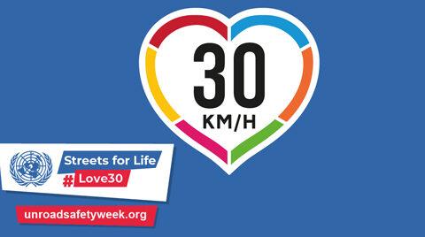 Campanha Streets for Life exige 30 km/h nas ruas urbanas para garantir cidades seguras, saudáveis, verdes e habitáveis